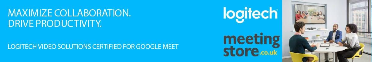 logitech Google Meet av equipment uk