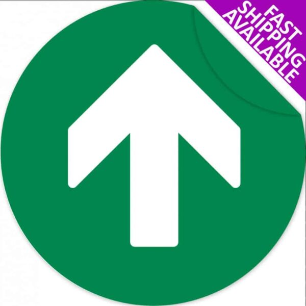 Social Distancing Self Adhesive Floor Sticker Arrow Green