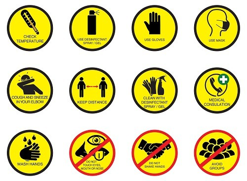 Social Distancing Workplace Solutions magnetic flexible safety instructions board